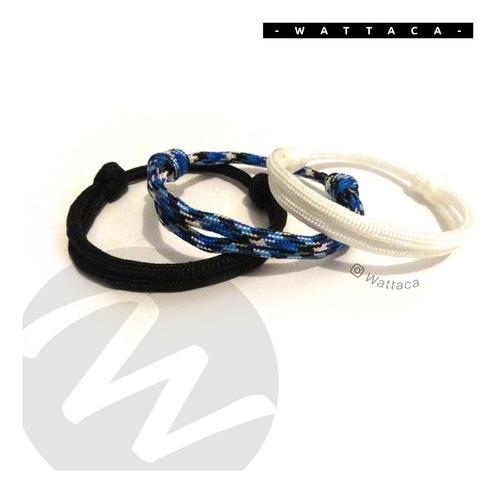 pack 3 pulseras minimalista, hombre, mujer | wattaca