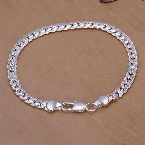 pack 3 pulseras plata esterlina 925 joyas mujer