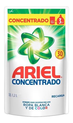 pack 3 recargas pouch detergente liquido ariel regular 1,2 l