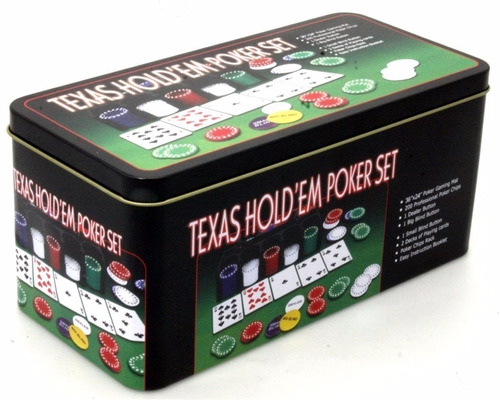 pack 3 set poker 200 fichas + paño black jack texas / 80131