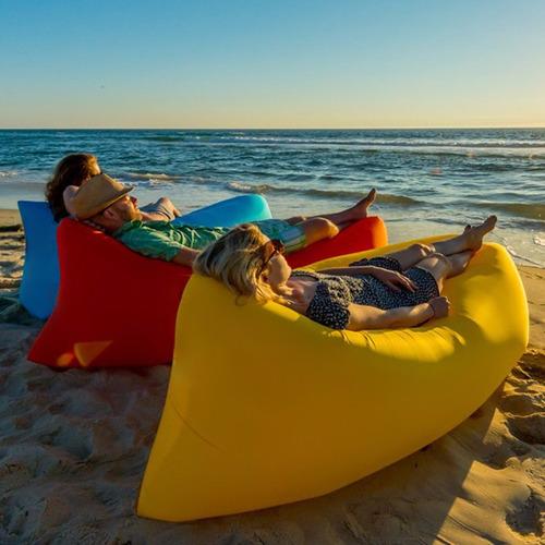 pack 3 sofá sillon inflable tumbona colchón