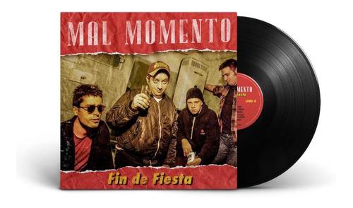 pack 3 vinilo mal momento  fin de fiesta  + remera + cd + po