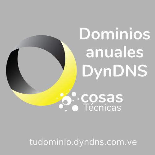 pack 30 dominio dyndns.com.ve para dvr y sistemas de cctv