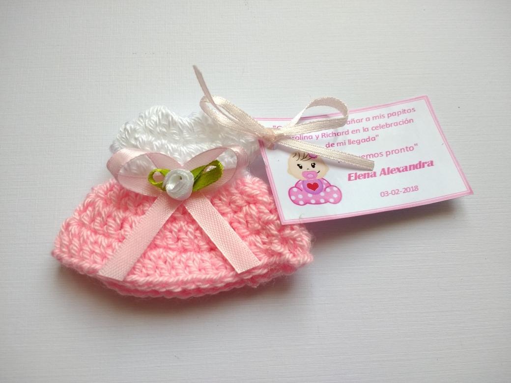 Encintados De Baby Shower De Nina.Pack 30 Encintados Tejidos Crochet Baby Shower Bautizo