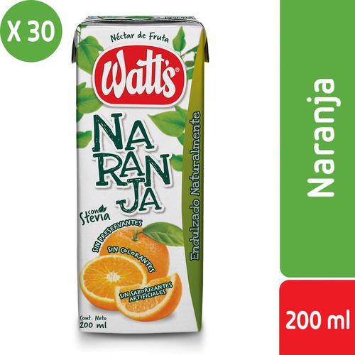 pack 30 - néctar watt's sabor naranja 200 ml