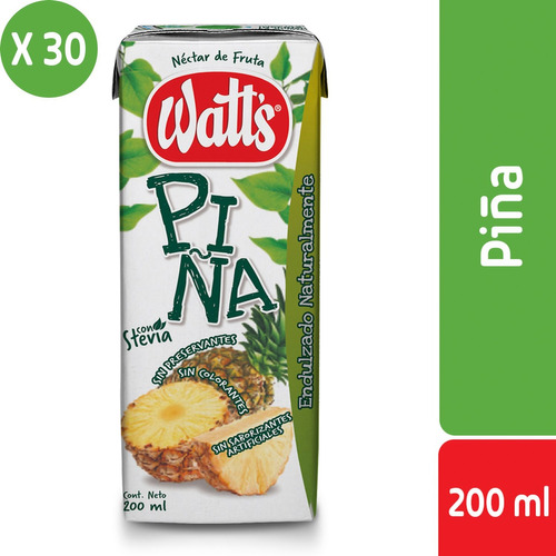 pack 30 - néctar watt's sabor piña 200 ml