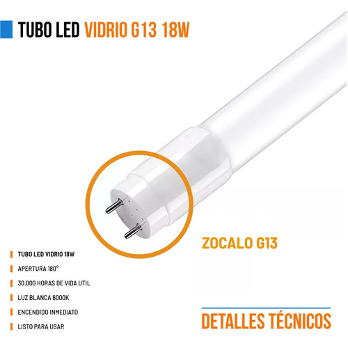 pack 30 tubos led 220v 18w = 36w 120cm oferta nanoshop
