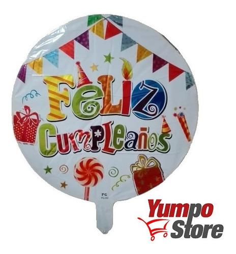 pack 36 globos metalicos con varillas feliz cumpleaños