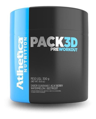 pack 3d pré-workout (300g) atlhetica nutrition