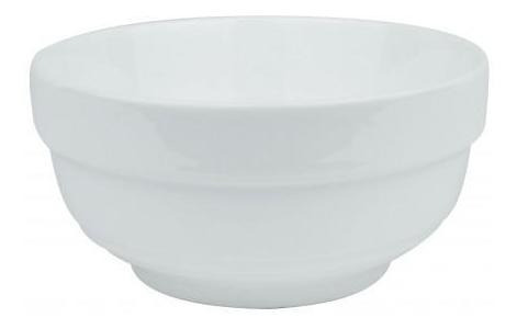 pack 3x: bowl ceramica blanca 12.8x6.3cm c guarda