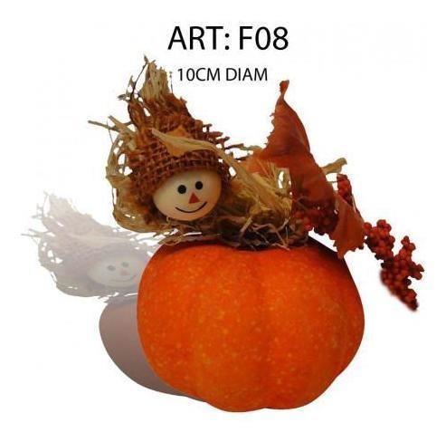 pack 3x: decoracion cotillcalabaza halloween con flores seca