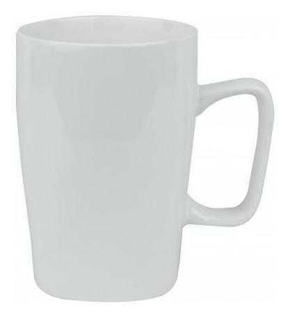 pack 3x: jarra desayuno ceramica blanca base cuadrada 7.5x11