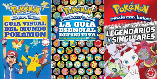 pack 3x1 pokemon - guía definitiva, legendarios, guía visual