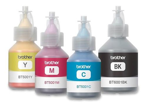 pack 4 botellas de tinta brother bt5001/6001