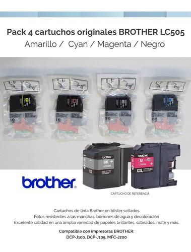 pack 4 cartuchos brother lc 505 originales