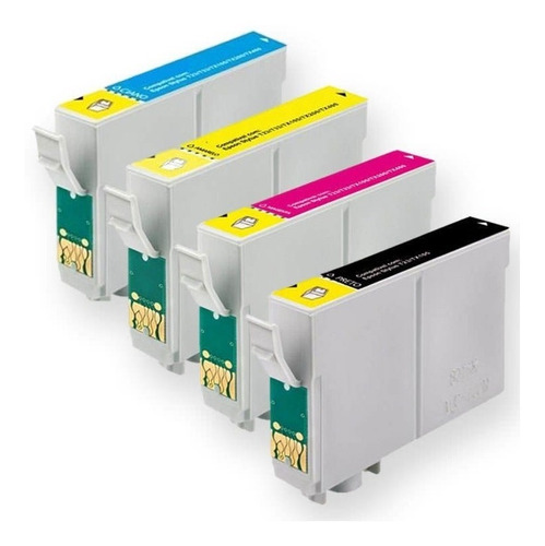 pack 4 cartuchos compatibles epson t25 tx125 tx133 tx135
