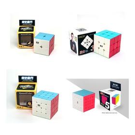 Pack 4 Cubos Speed Rubik Qiyi 2x2 + 3x3 + 4x4 + 5x5 Original
