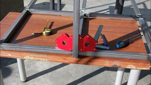 pack 4 escuadras magnéticas soldar 50 lbs  multiproposito