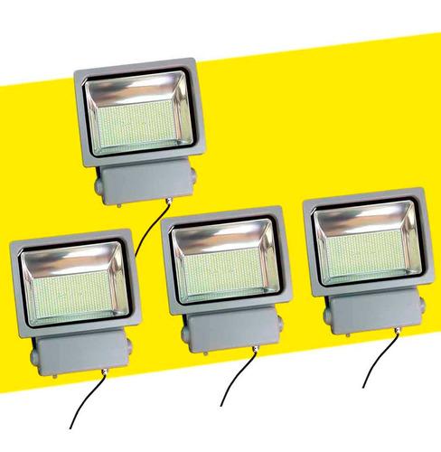 pack 4 foco proyector led 100 w smd, 10000 lum/ envio gratis