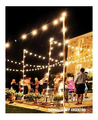 pack 4 guirnaldas 10 mts con luces vintage incluida exterior