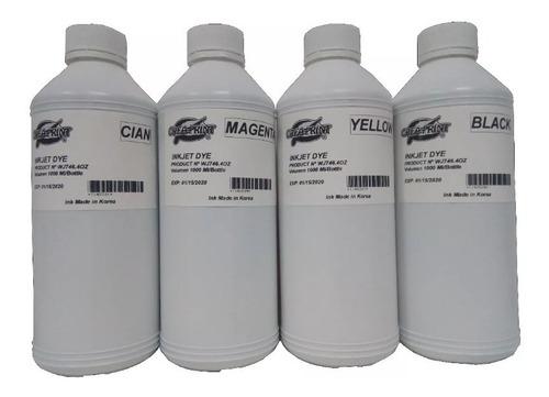 pack 4 litro de tinta cmyk impresoras canon g1100 2100 3100