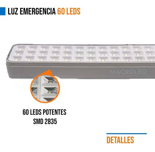 pack 4 luz de emergencia 60 leds bateria recargable 500g gramos