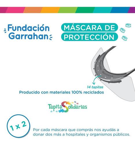 pack 4 máscaras de protección facial - fundación garrahan