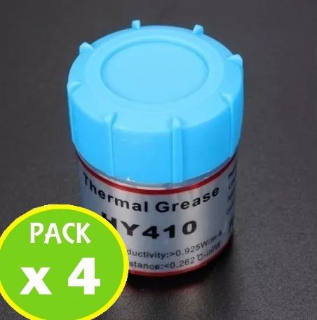 pack 4 pasta termica disipadora de calor 15g