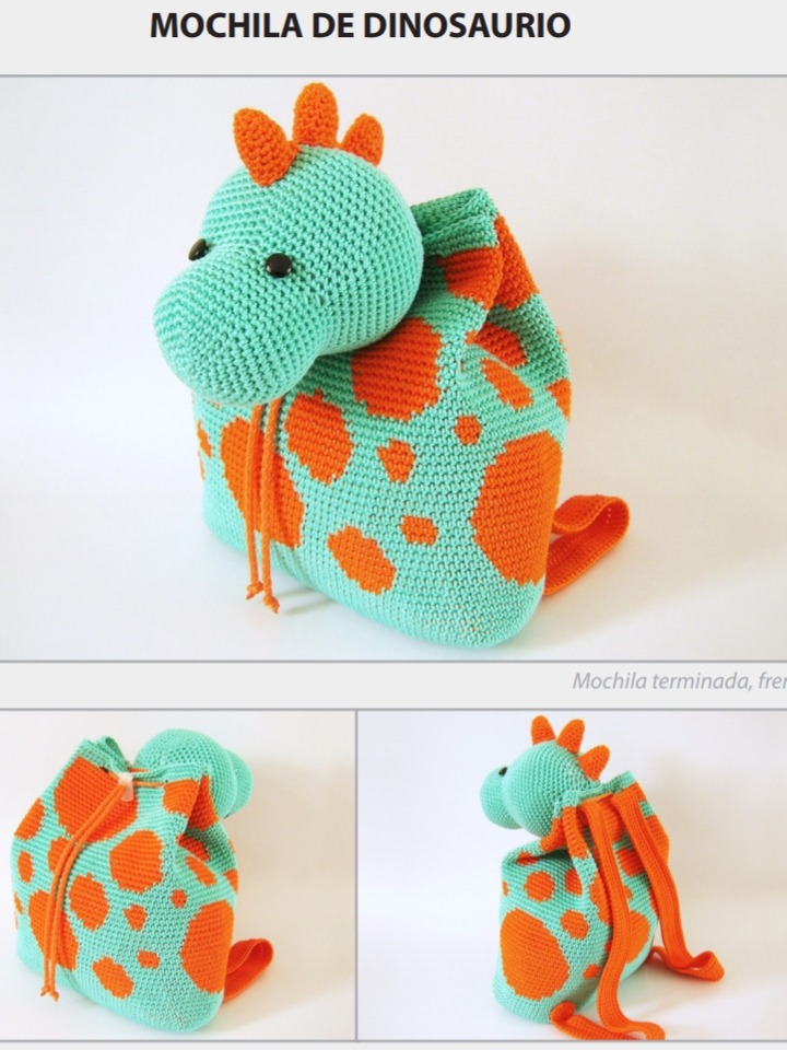 Pack 4 Patrones Mochilas Al Crochet Español - $ 50,00 en Mercado Libre