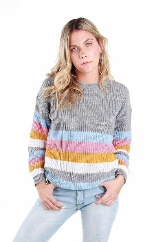 pack 4 sweaters rayado invierno 2019. Cargando zoom.