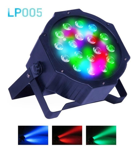 pack 4 tachos par led big dipper lp005 18 leds x 1w  dmx