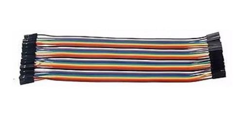 pack 40 cables protoboard hembra hembra dupont original