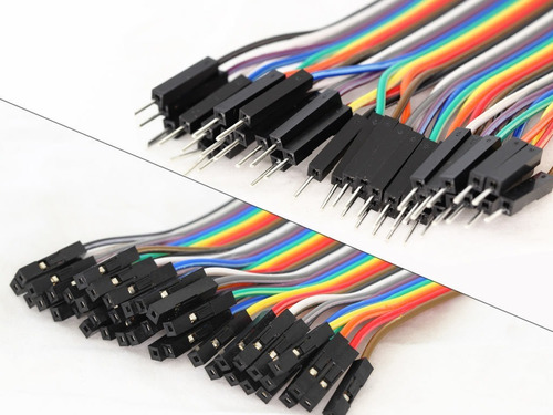 pack 40 cables protoboard macho hembra 10cm arduino dupont