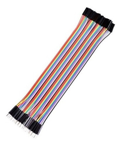 pack 40 cables protoboard macho hembra 30cm arduino dupont