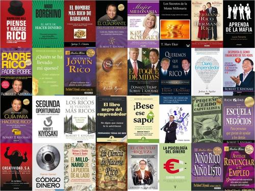 pack 47 de libros riqueza, dinero, emprendedores