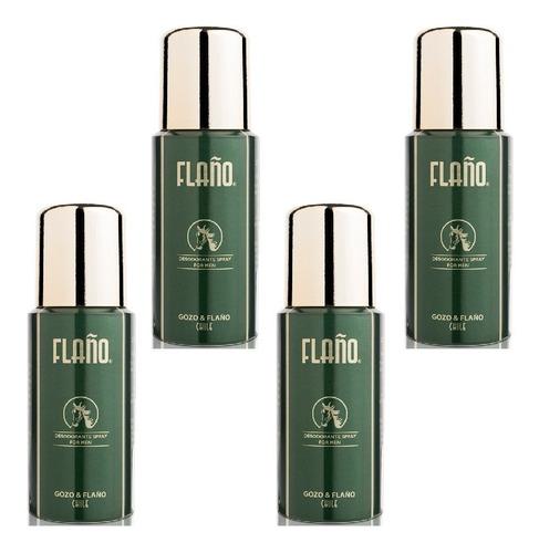 pack 4x desodorantes spray flaño 140ml