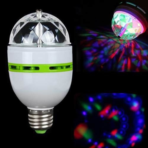 pack 5 ampolletas led giratoria e27 disco - envío gratis