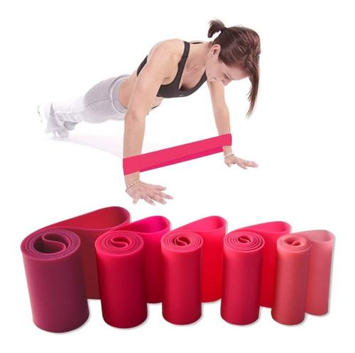 pack 5 bandas elásticas resistencia circulares yoga pilates