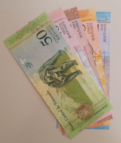 pack 5 billetes venezuela 20 marzo 2007 a8 unc 1ra emisión