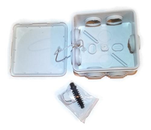 pack 5 cajas de registro estanca conexiones cctv  ip55 8x8x5