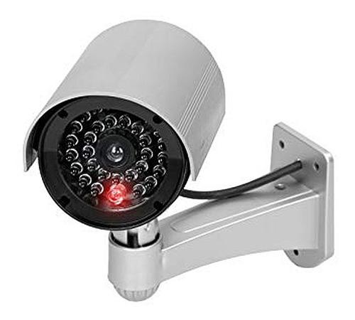 pack 5 cámaras seguridad falsa exterior c/luz led vigilancia