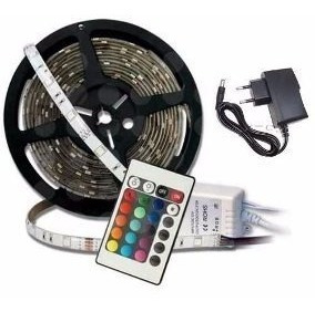 pack 5 cinta tira 300 led 5mt rgb control luces