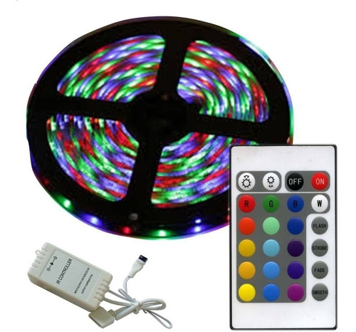 pack 5 cinta tira 300 led 5mt rgb control luces /master prox