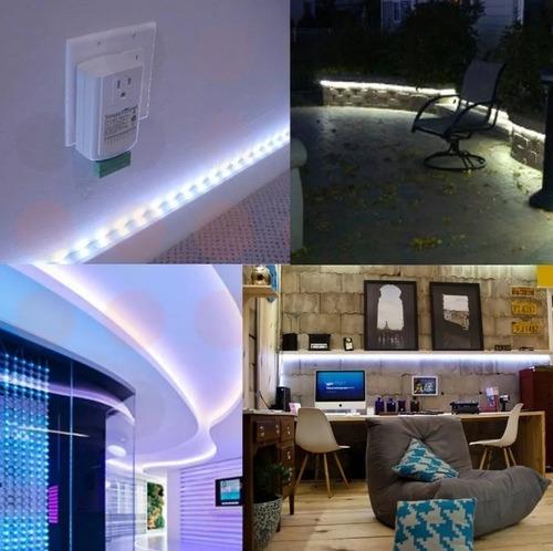 pack 5 cinta tira luz led blanco 5 metros 300 leds/ technoso