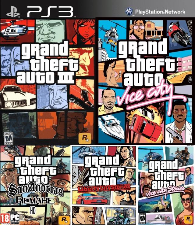 Pack 5 Juegos Gta Ps2 Clasicos Para Jugar En Ps3 150 00 En