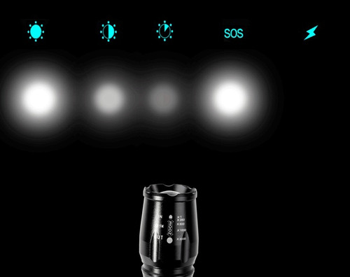 pack 5 lamparas led t6  3000 lumenes + 2 regalos
