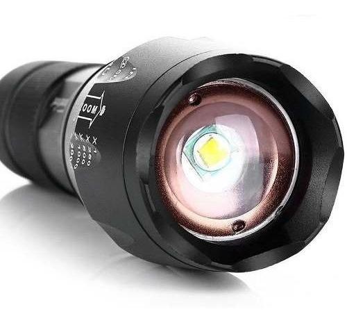pack 5 linterna led cree xml-t6 2000 lumenes recargable
