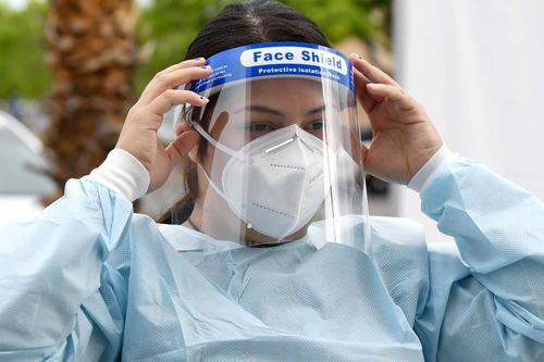 pack 5 mascara protector facial antifluidos antisalpicaduras
