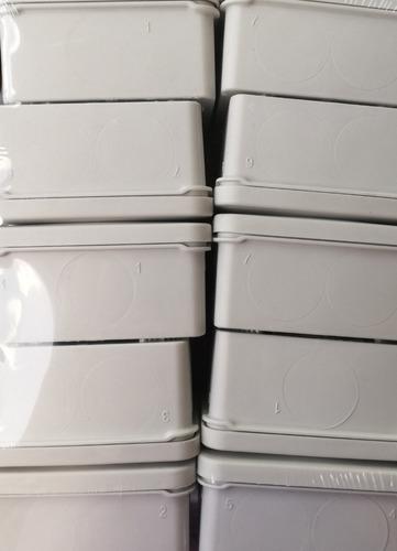 pack 50 cajas de registro estanca ip55 8x8x4.5 (sin conos)