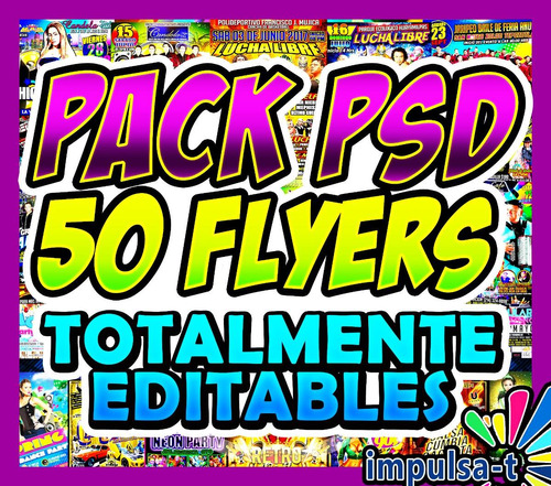 pack 50 plantillas psd, flyers totalmente editables